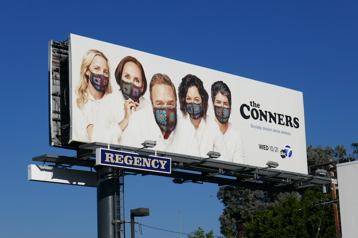 Conners season 3 Socially distant billboard
