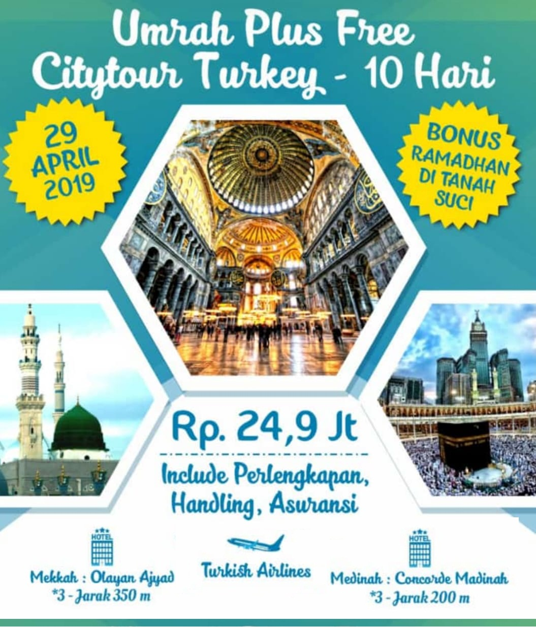Paket Umroh Plus City Tour Turki April 2019