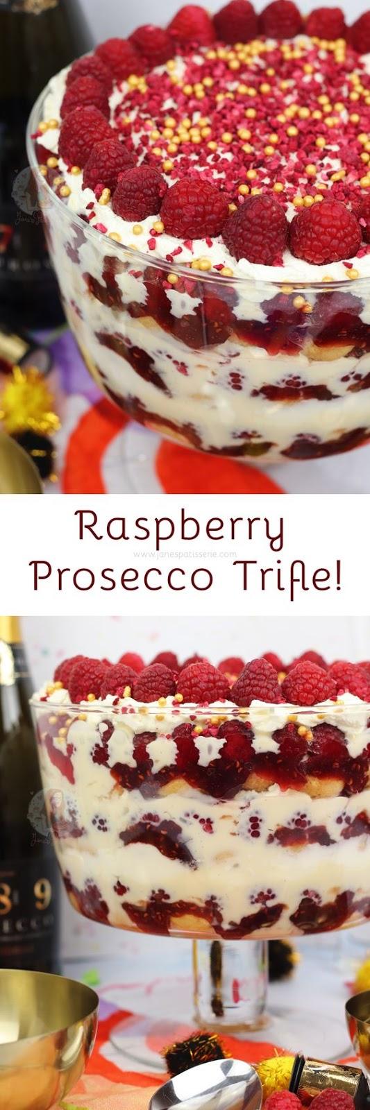 Raspberry Prosecco Trifle