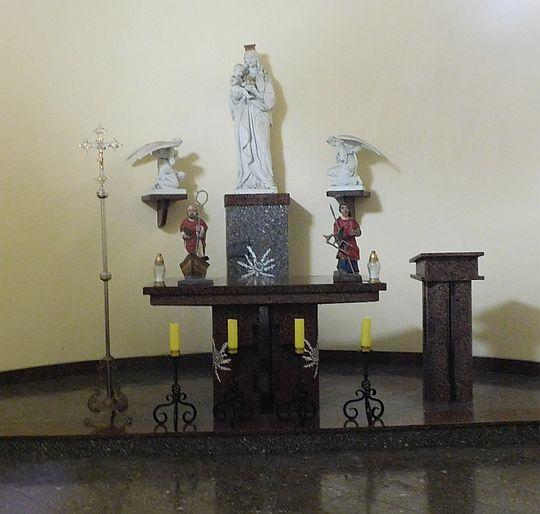Ołtarz kaplicy św. Wawrzyńca (czes. Kaple Sv. Vavřince, niem. Laurentius Kapele).