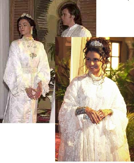 Vestido de noivas da Jade em O clone cenas