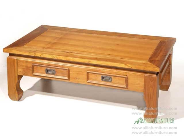 meja laci lesehan kayu jati model kotak