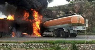 Suleja-Minna Fuel Tanker and a Trailer Collision