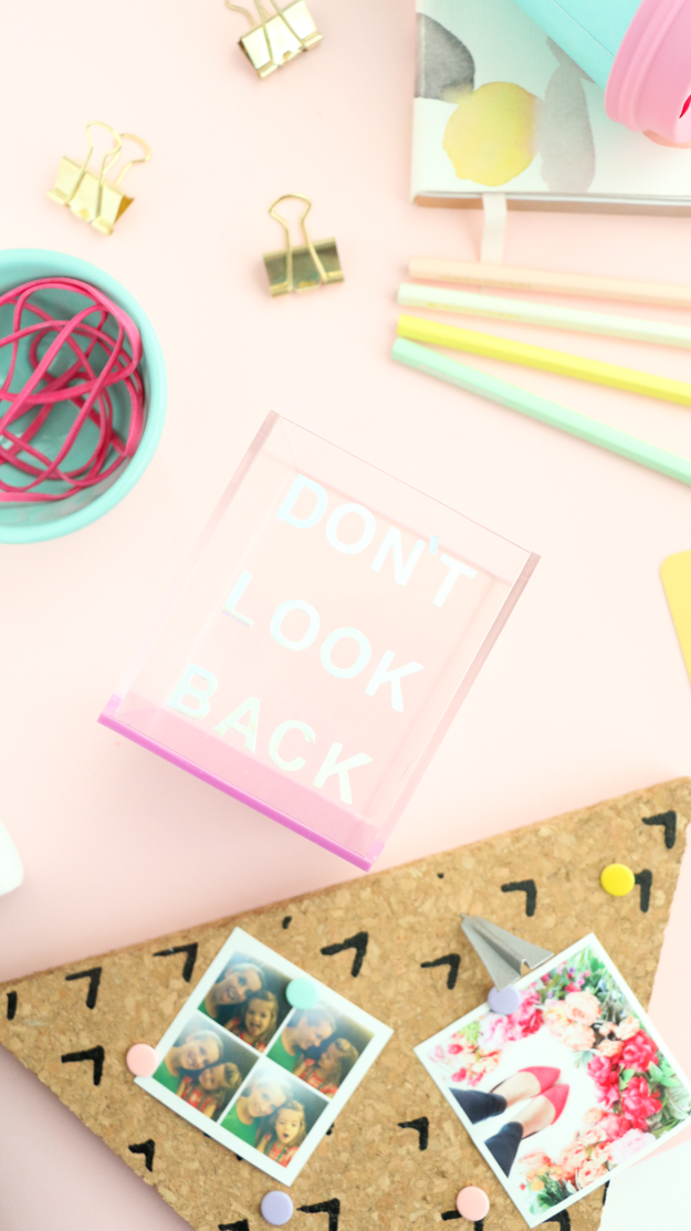 DIY Holographic Typography acrylic pencil cup - target style - holograph - purple - DIY desk accessories - pencil cup DIY - craft ideas - easy craft - quick craft