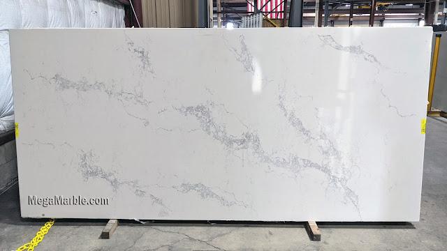 statuary Maxima white quartz slab for countertop