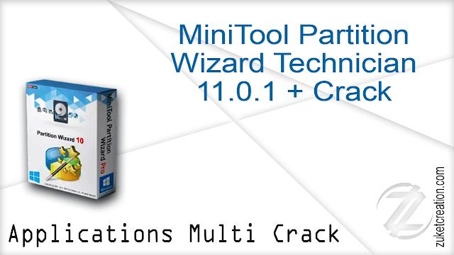 MiniTool Partition Wizard Technician 11.0.1 + Crack