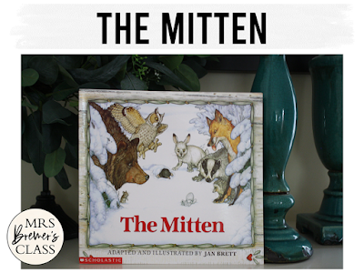 The Mitten winter book study literacy unit with Common Core aligned companion activities and a craftivity for K-1
