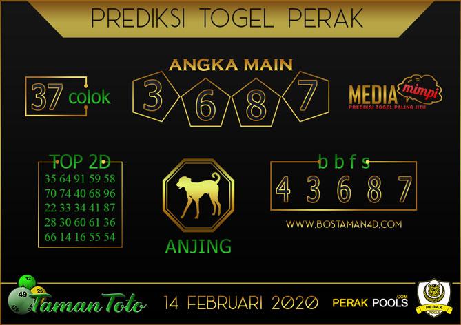 Prediksi Togel PERAK TAMAN TOTO 14 FEBRUARY 2020