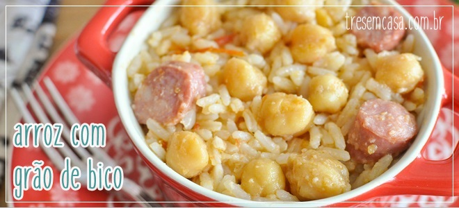 arroz com grão de bico