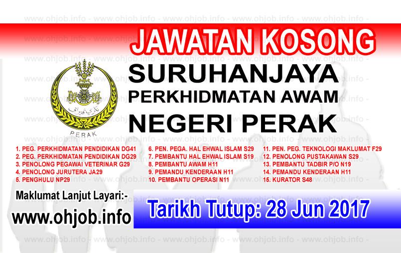 Jawatan Kerja Kosong Suruhanjaya Perkhidmatan Awam Negeri Perak logo www.ohjob.info jun 2017