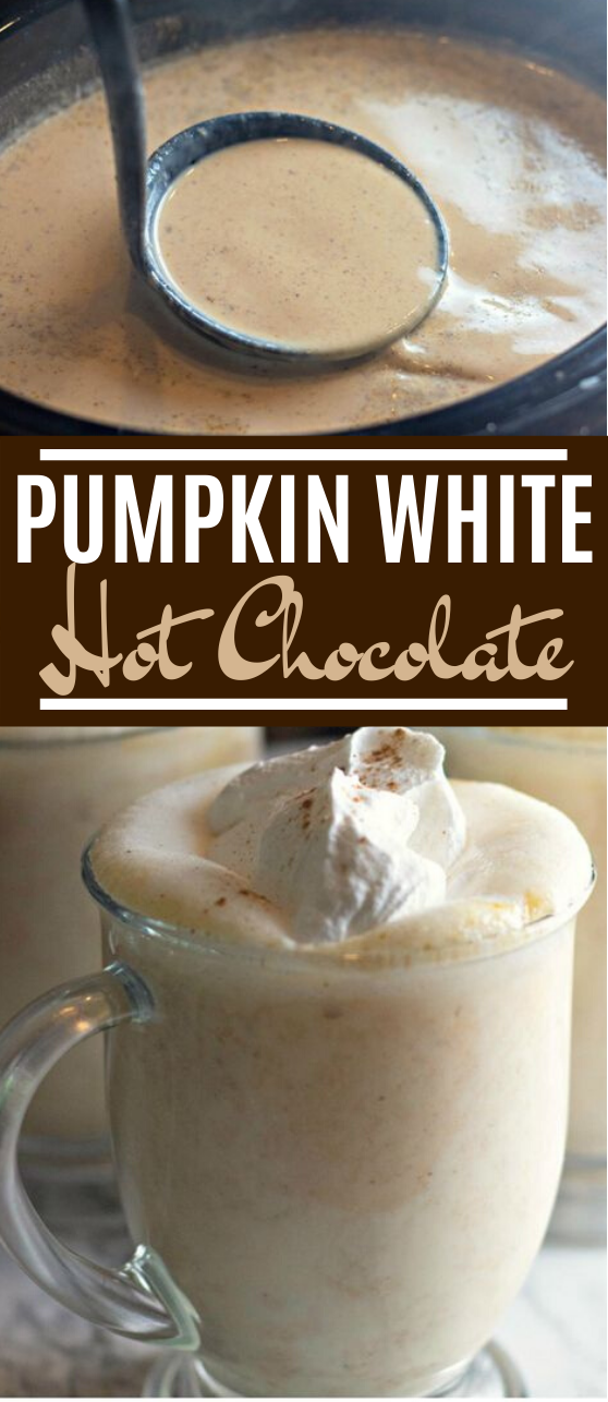 Pumpkin White Hot Chocolate #drinks #pumpkin #hotchocolate #winter #fall