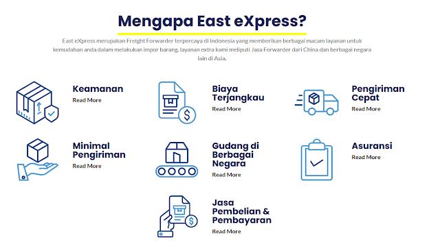 Daftar Layanan dan Fitur East Express Forwarder China Indonesia Terpercaya