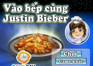 Game vào bếp cùng Justin Bieber cực vui