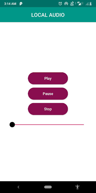 Audio with Play, pause, and Stop Button