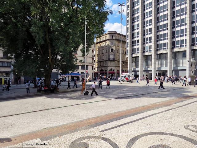 Vista ampla de parte da Praça do Patriarca - Centro - São Paulo