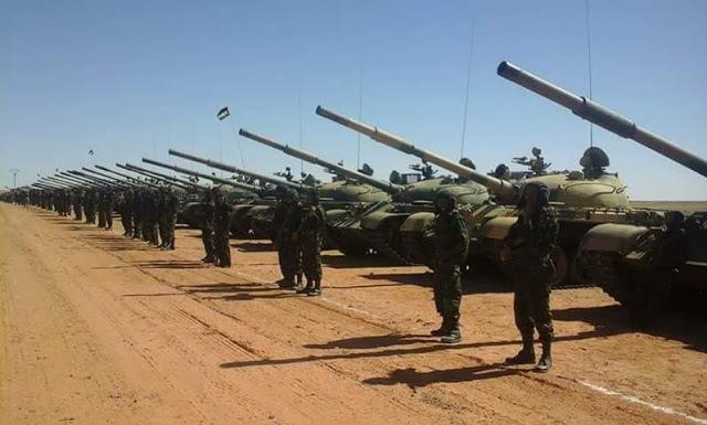 🔴 البلاغ العسكري 145: الجيش الصحراوي يشن أربع عمليات قصف على مواقع عسكرية مغربية في المحبس.