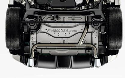 2013 Fiat 500 Abarth Rear Exhaust