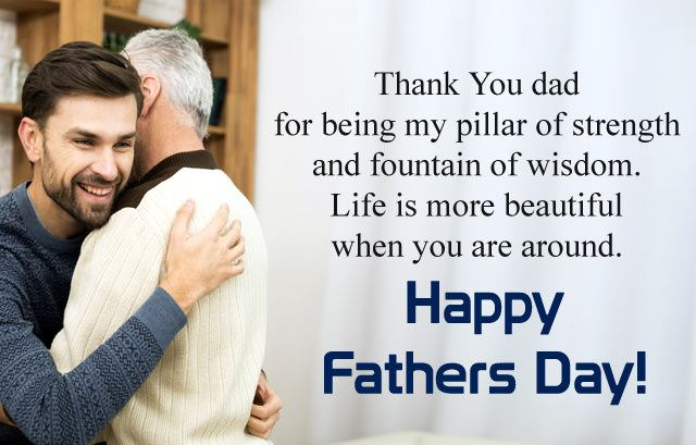 Fathers day  wishes hug