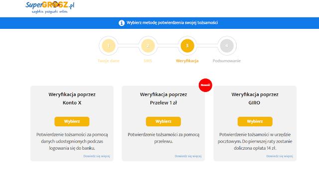 Metody weryfikacji we wniosku o pożyczkę Super Grosz