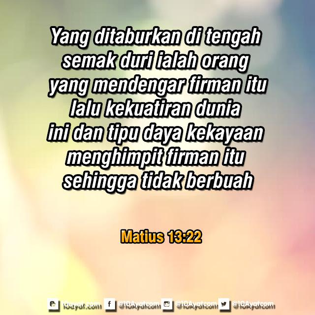 Matius 13:22