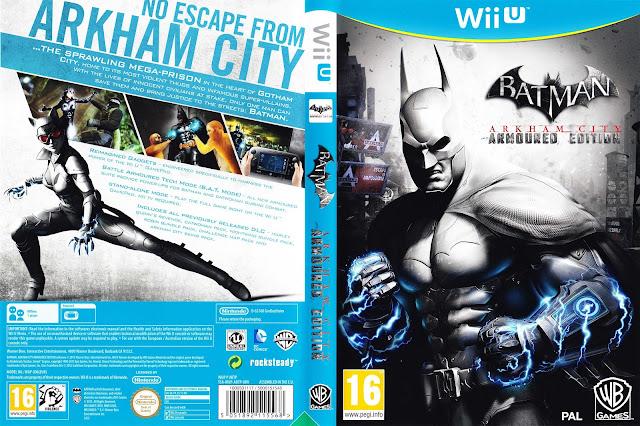 Capa Batman Arkham City Armored Edition Wii U