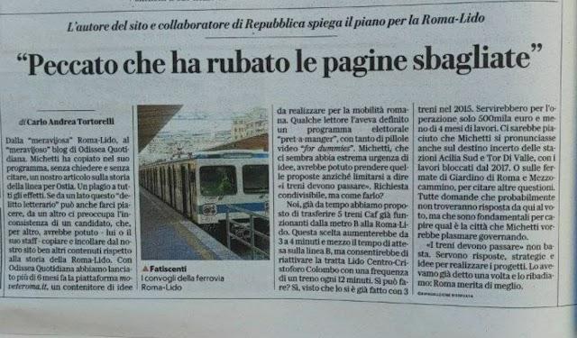 """Dalla """"meravijosa"""" Roma-Lido, al """"meravijoso"""" blog di Odissea Quotidiana"""