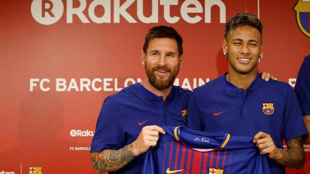 Neymar soal Persaingan Jadi Top Skorer Barca dengan Messi