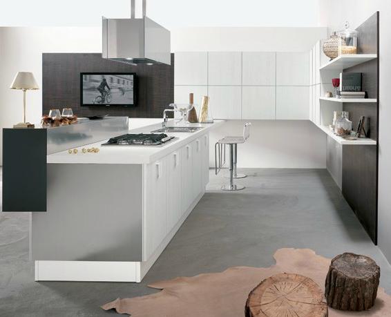 Tendencias de la cocina abierta y multifuncional cocinas for Cocinas modernas blancas con peninsula