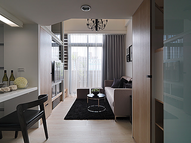 台北室內設計;中山大同萬華士林區室內設計;現代都會風室內設計;小套房設計;三米六四米二挑高設計;大集設計