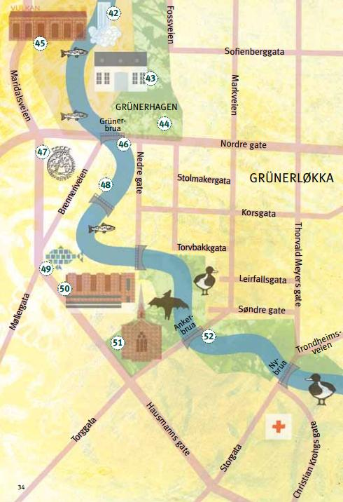 kart over grunerløkka Markablogg: På tur langs Akerselva kart over grunerløkka