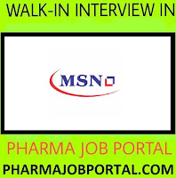 MSN Laboratories Ltd Walk In For Executive, Jr. Executive, Sr. Executive, Jr. Manager, Asst.Manager on 27 October