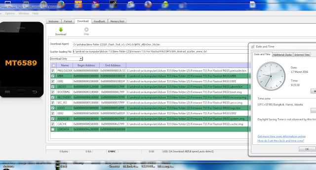 Penampakan File Untuk Flash Tool