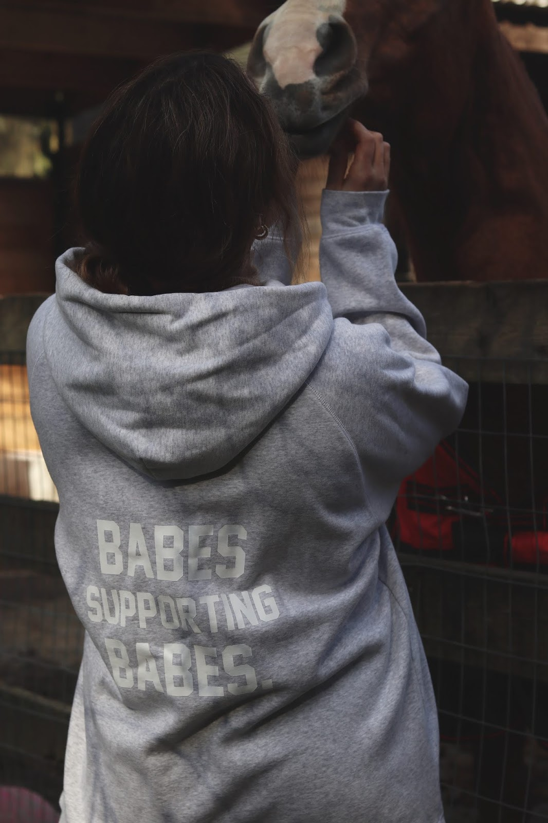 Brunette Babes Supporting Babes big sister hoodie aleesha harris international womens day