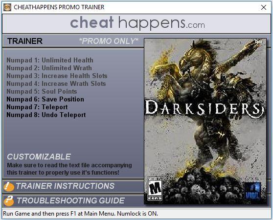 Download Darksiders Wrath Of War Mega Trainer 1.1