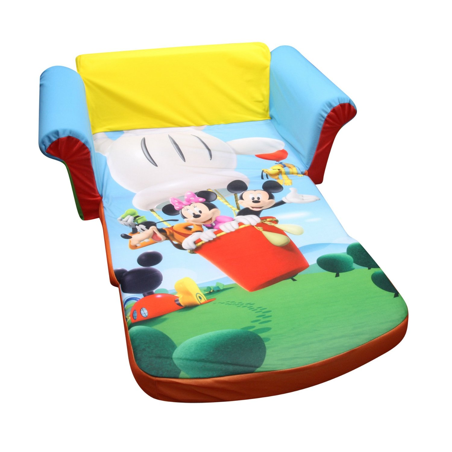Mickey Mouse Clubhouse Bedroom Decor Kids Fold Out Sleeper Sofas