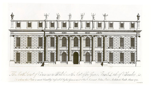 Cannons House, Middlesex, where Handel's Acis and Galatea was premiered