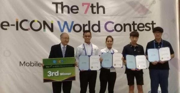 Estudiantes mexicanos del CONALEP crean app de seguridad y gana premio en Corea.