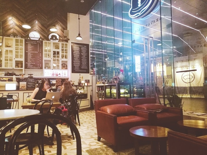 Caravan Black in BGC; cafes in Manila