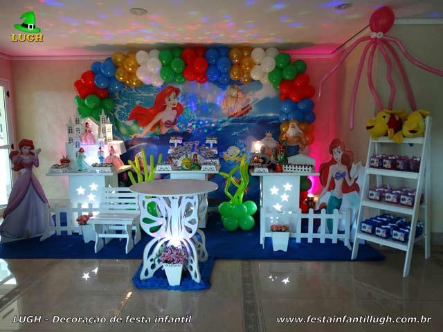 Decoração provençal tema A Pequena Sereia (Ariel) - Festa feminina
