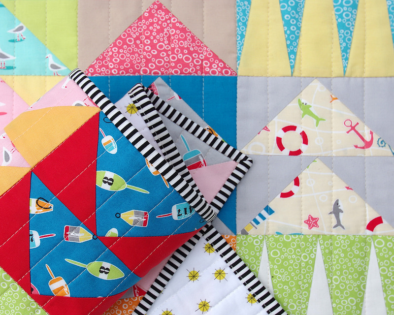A Flying Geese Rockpool Quilt ~ Rockpool fabric by Jodie Carleton | © Red Pepper Quilts 2017