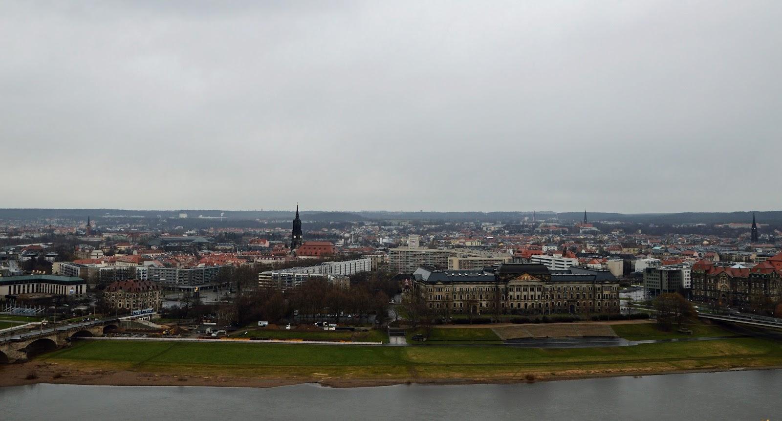 Drezno Altstadt Starówka Widok z góry
