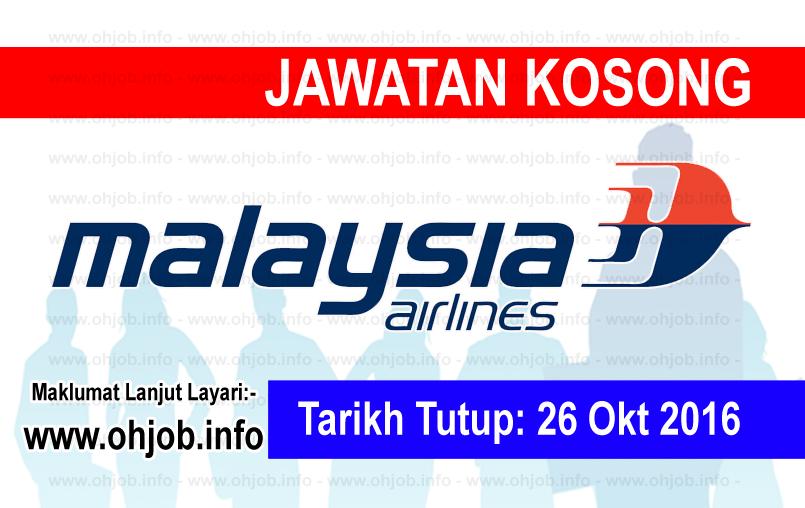 Jawatan Kerja Kosong Malaysia Airlines Berhad logo www.ohjob.info oktober 2016