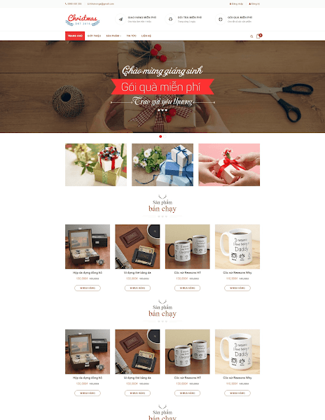 Mẫu template blogspot bán hàng đơn giản đẹp