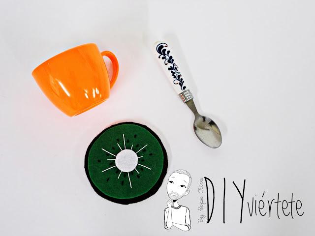 BLOGERSANDO-frutas-DIY-fieltro-kiwi-posavasos-manualidades-0