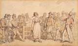 Selling a Wife by Thomas Rowlandson - Genre Drawings from Hermitage Museum
