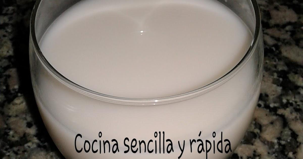 Cocina sencilla y r pida leche casera de avena for Cocina rapida y sencilla