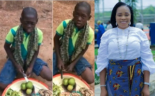 Young hawker with an amazing voice goes viral after singing Tope Alabi's song