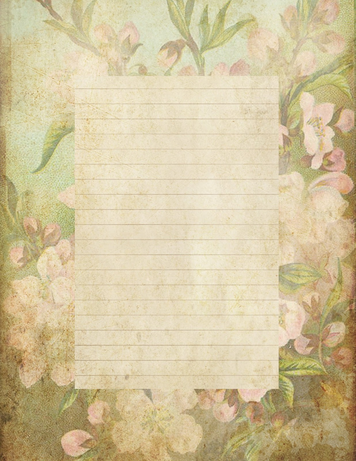 Lilac Lavender Antiqued lined paper Stationery – Lined Stationary Paper