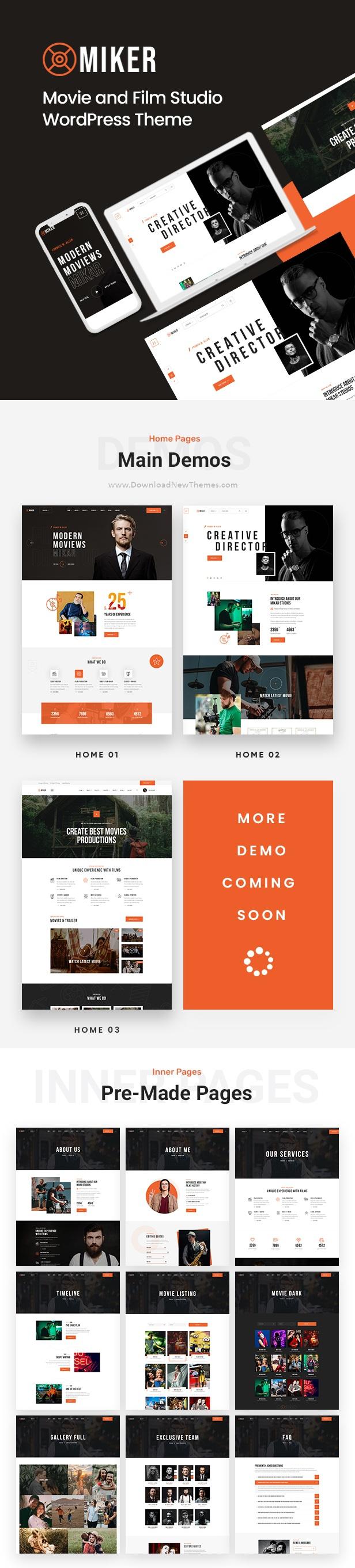 Movie and Film Studio WordPress Theme