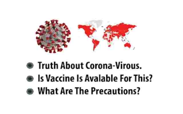 Truth About Corona Virus. is there vaccine is available. What Are The Symptoms and Perventions